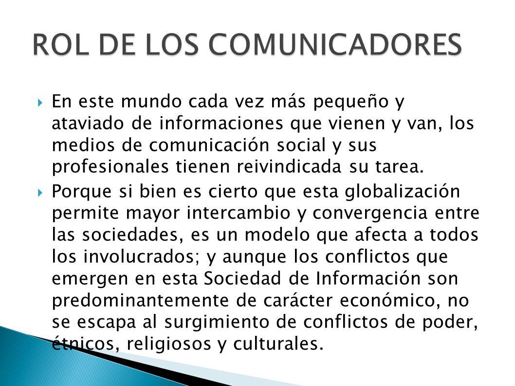 ROL DE LOS COMUNICADORES