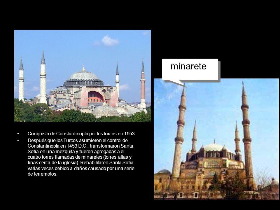 mezquita minarete Conquista de Constantinopla por los turcos en 1953