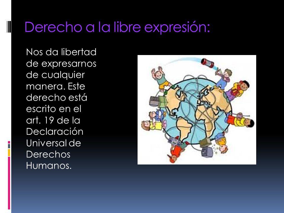 Derecho a la libre expresión: