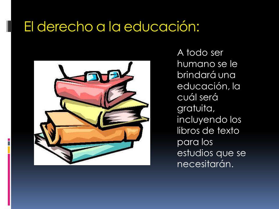 El derecho a la educación:
