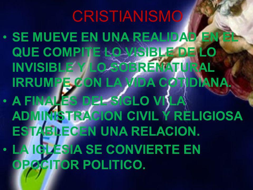 CRISTIANISMO SE MUEVE EN UNA REALIDAD EN EL QUE COMPITE LO VISIBLE DE LO INVISIBLE Y LO SOBRENATURAL IRRUMPE CON LA VIDA COTIDIANA.