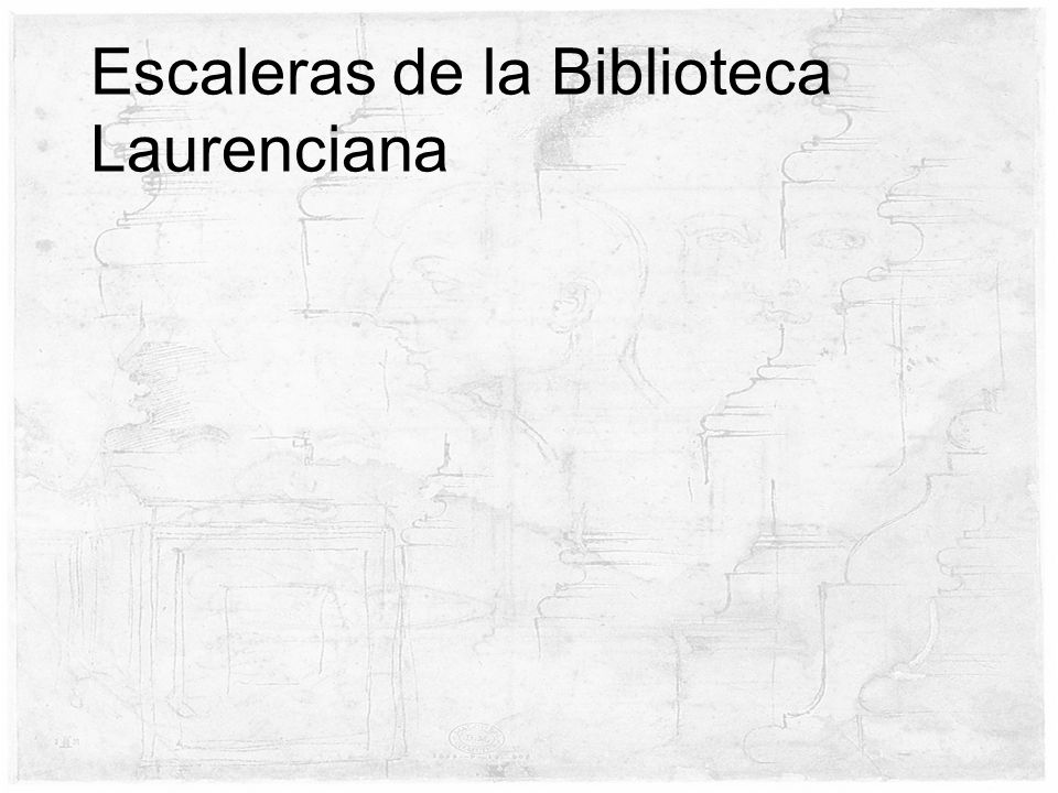 Escaleras de la Biblioteca Laurenciana