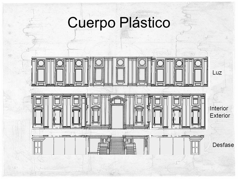 Cuerpo Plástico Luz Interior Exterior Desfase