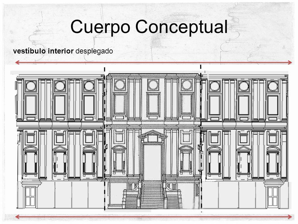 Cuerpo Conceptual vestíbulo interior desplegado