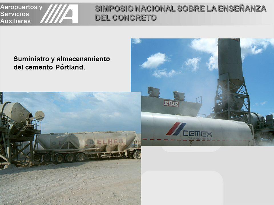 Suministro y almacenamiento del cemento Pórtland.