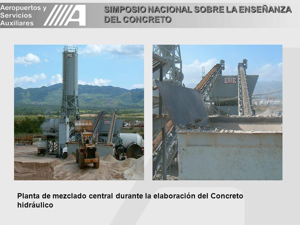 Planta de mezclado central durante la elaboración del Concreto hidráulico