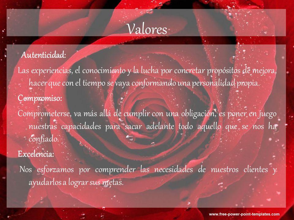 Valores Autenticidad: