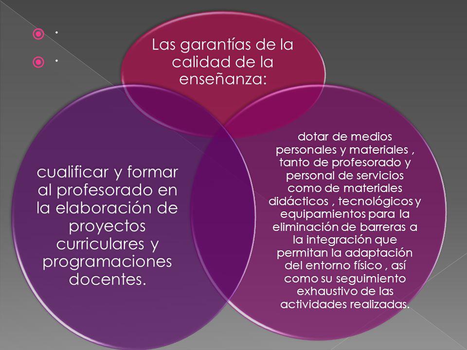 Las garantías de la calidad de la enseñanza: