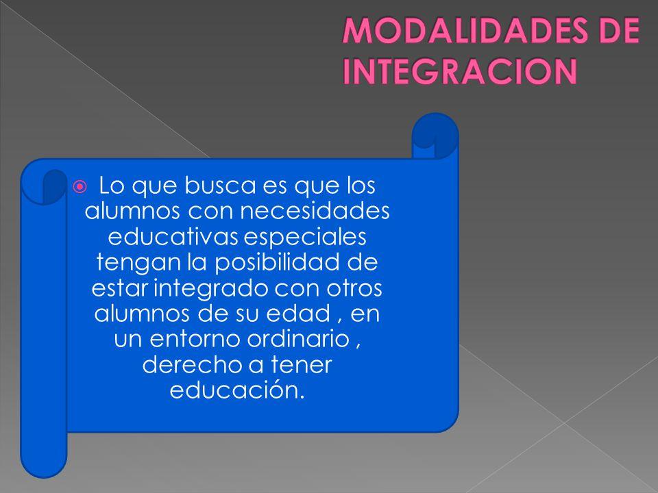 MODALIDADES DE INTEGRACION