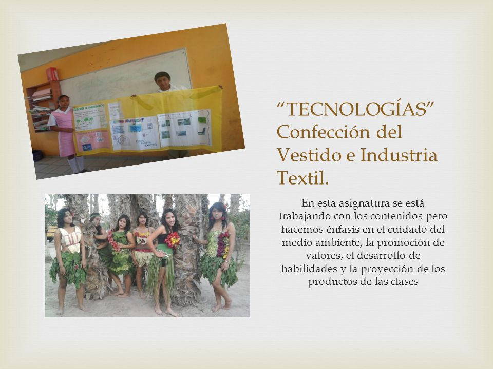 TECNOLOGÍAS Confección del Vestido e Industria Textil.