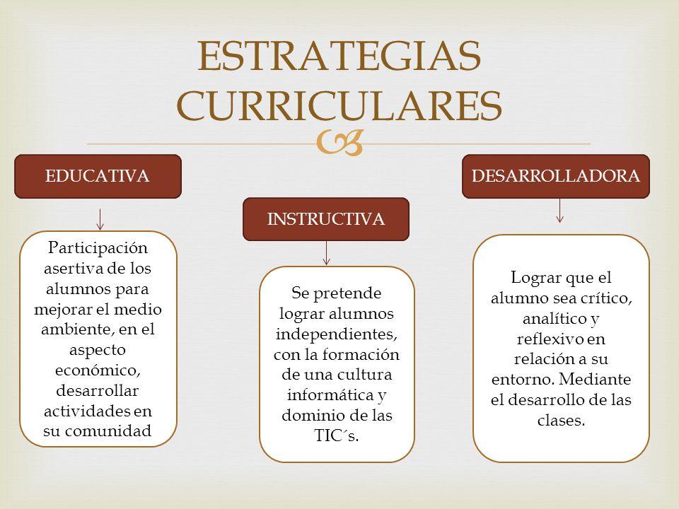 ESTRATEGIAS CURRICULARES