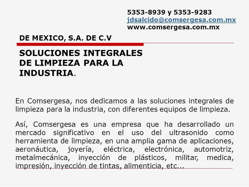 SOLUCIONES INTEGRALES DE LIMPIEZA PARA LA INDUSTRIA.