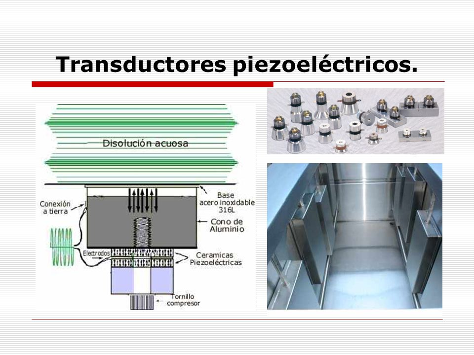 Transductores piezoeléctricos.