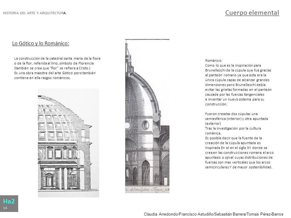 Cuerpo elemental Ha2 Lo Gótico y lo Románico: