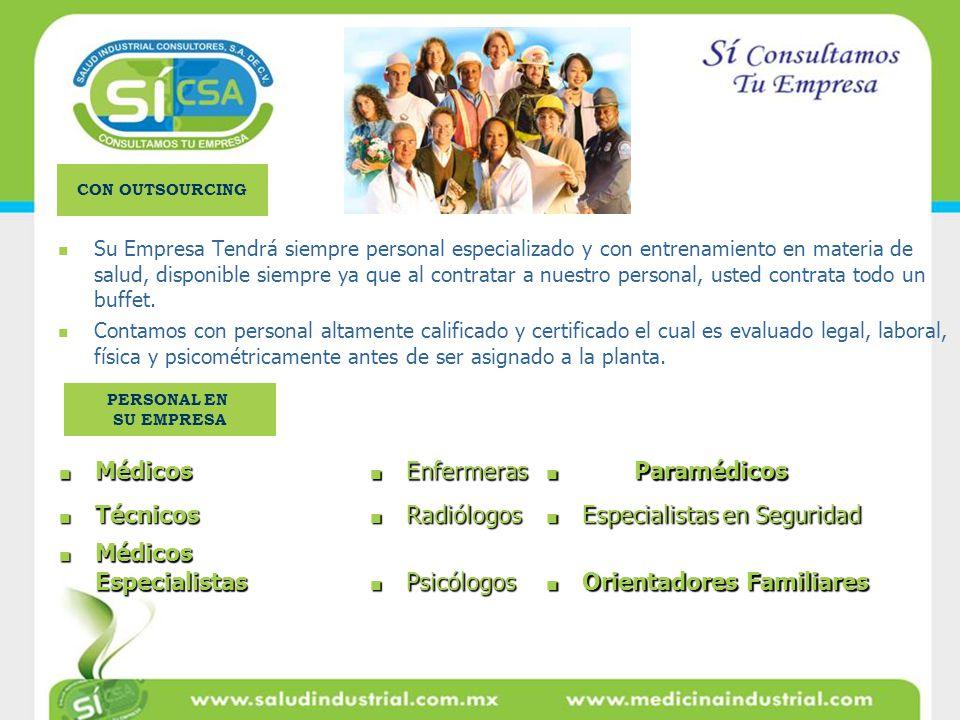 Especialistas en Seguridad Médicos Especialistas Psicólogos