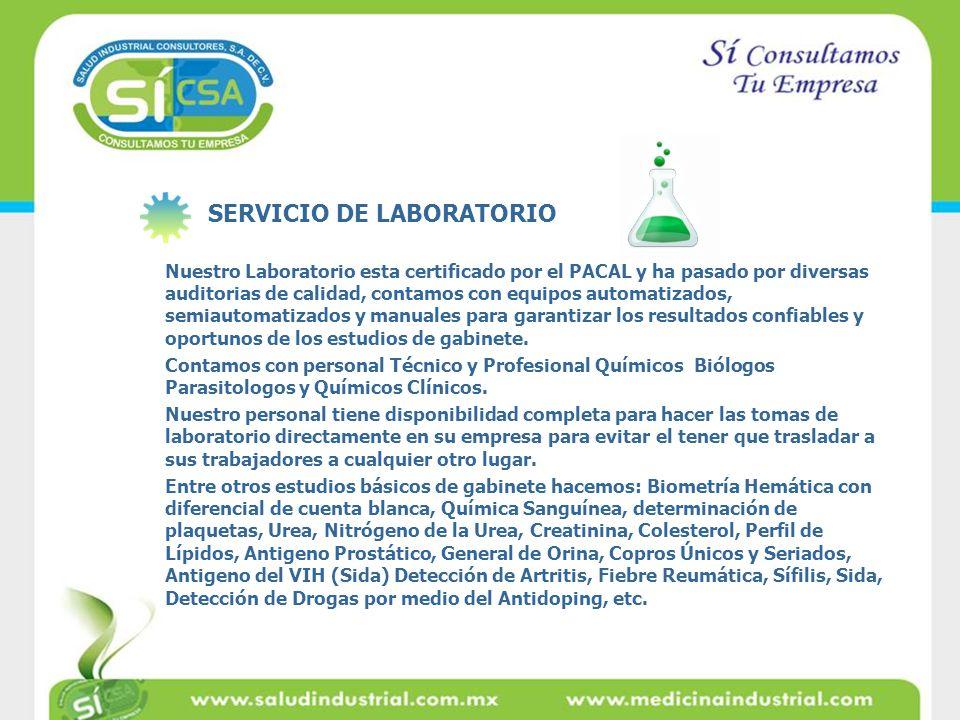 SERVICIO DE LABORATORIO