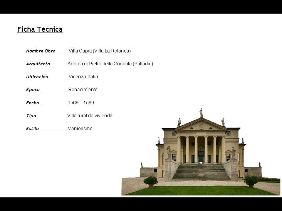 Ficha Técnica Nombre Obra ____ Villa Capra (Villa La Rotonda)