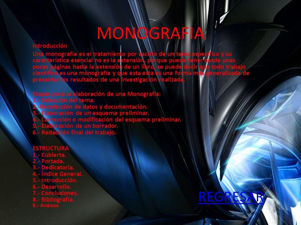 MONOGRAFIA REGRESAR Introducción