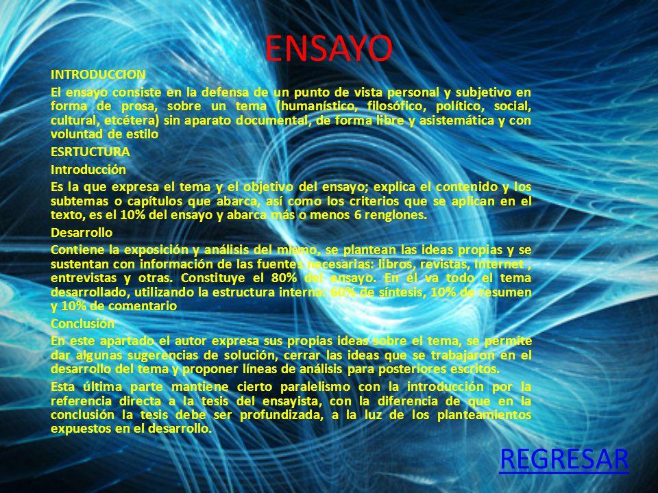 ENSAYO REGRESAR INTRODUCCION