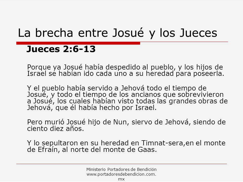 La brecha entre Josué y los Jueces