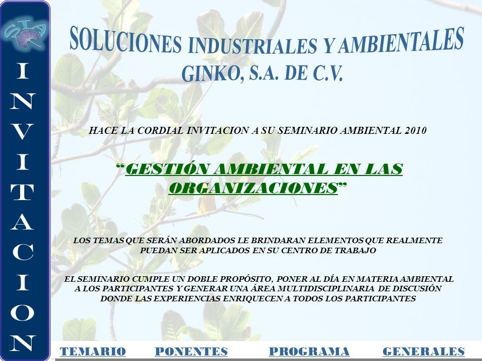 SOLUCIONES INDUSTRIALES Y AMBIENTALES GINKO, S.A. DE C.V.