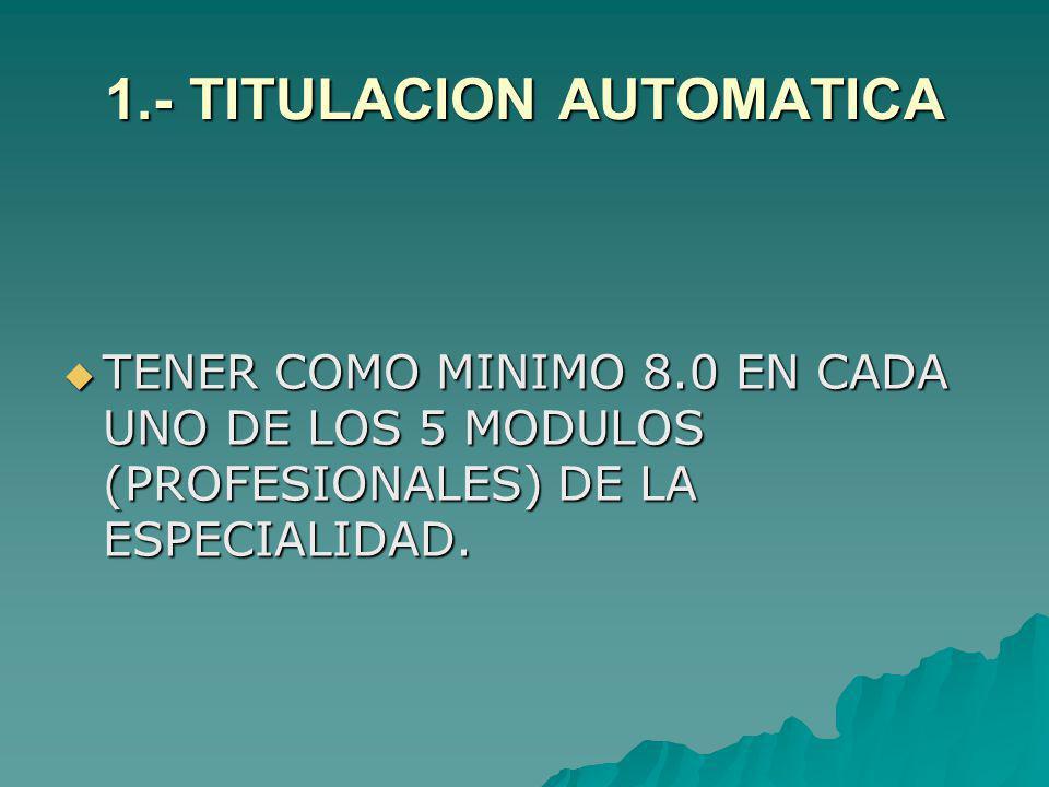 1.- TITULACION AUTOMATICA