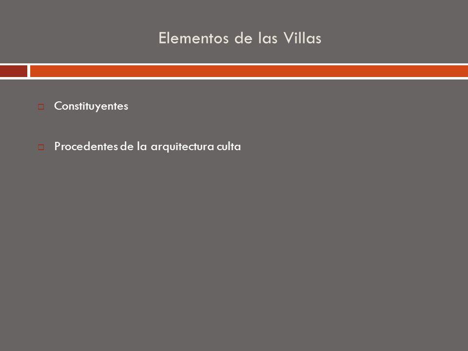 Elementos de las Villas