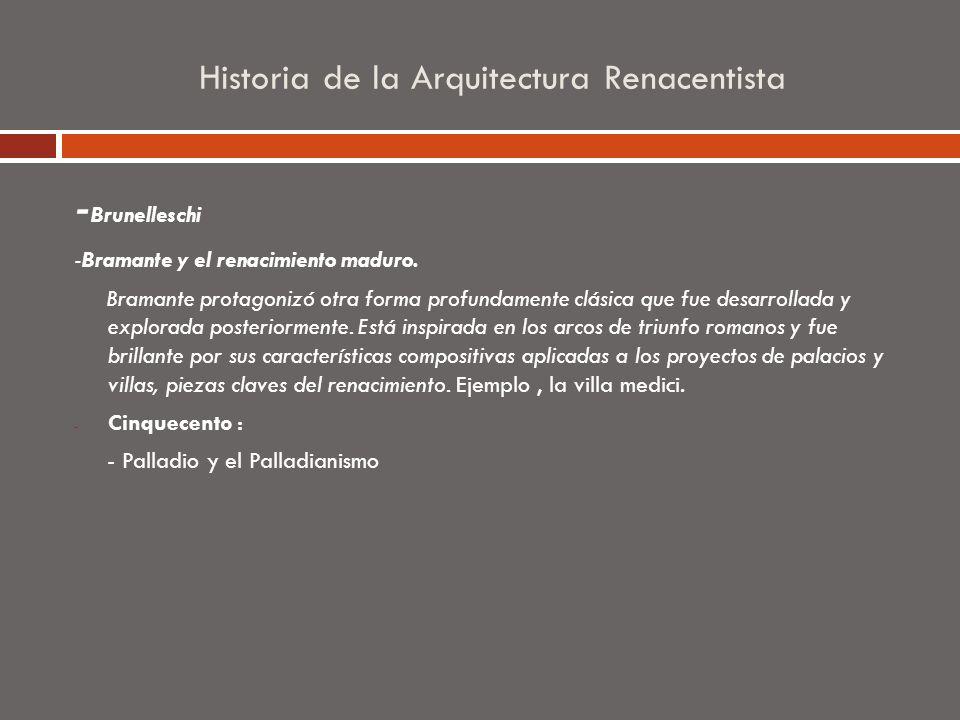 Historia de la Arquitectura Renacentista