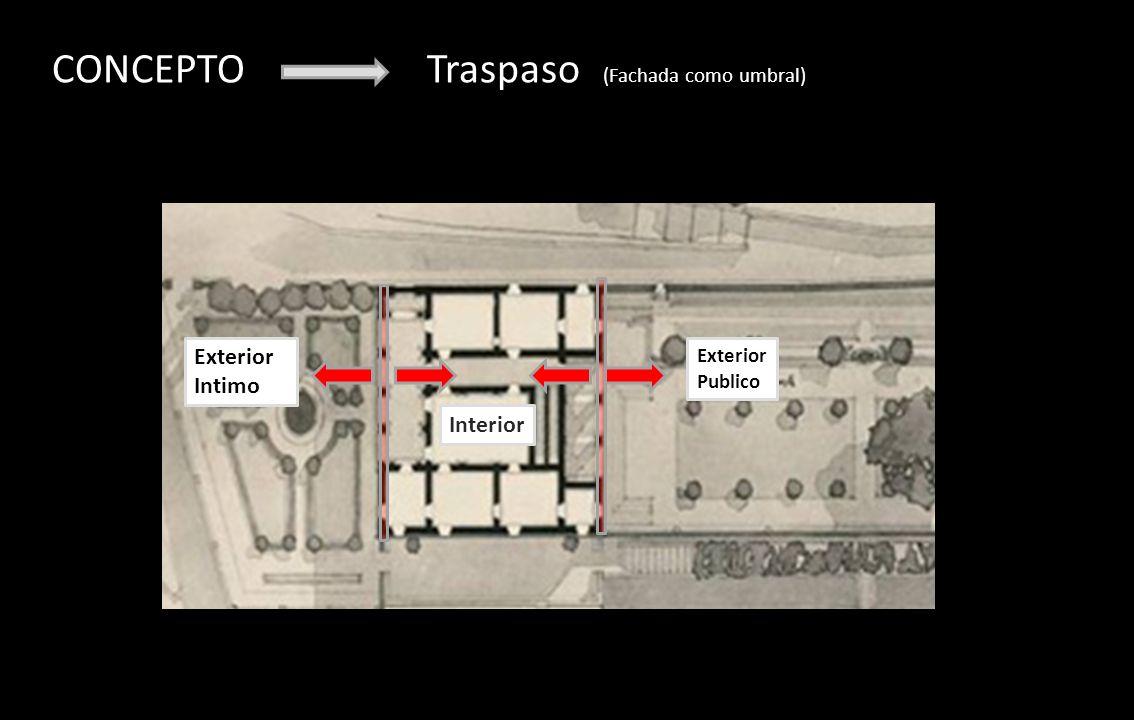 CONCEPTO Traspaso (Fachada como umbral)