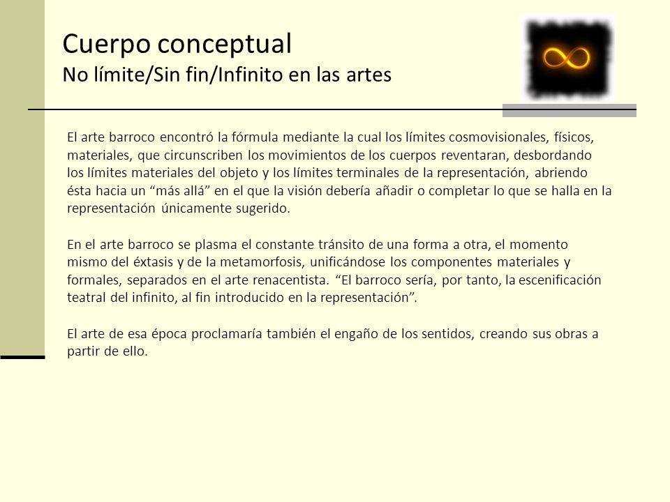 Cuerpo conceptual No límite/Sin fin/Infinito en las artes