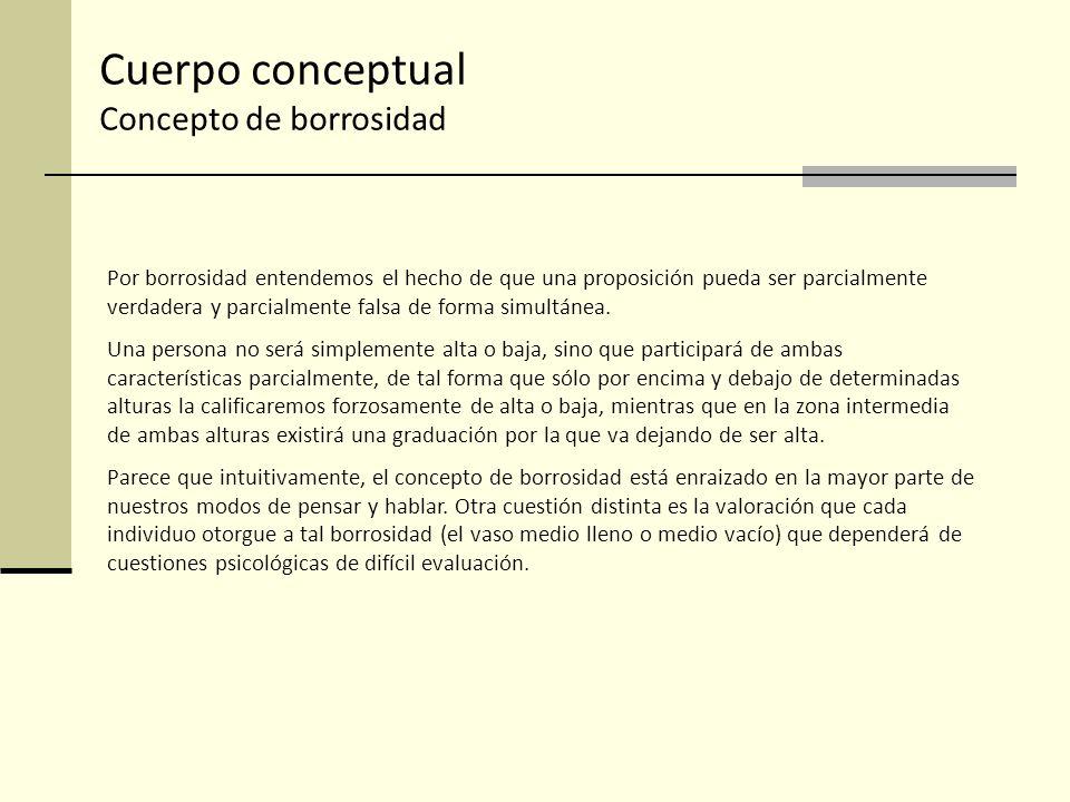 Cuerpo conceptual Concepto de borrosidad