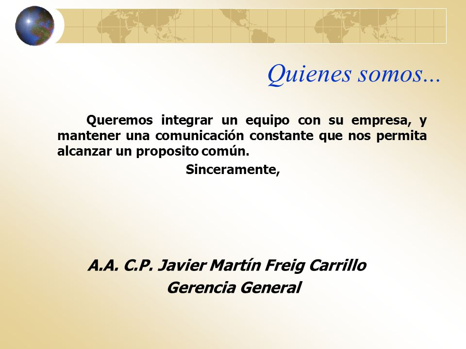 A.A. C.P. Javier Martín Freig Carrillo