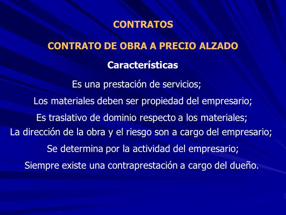 CONTRATO DE OBRA A PRECIO ALZADO