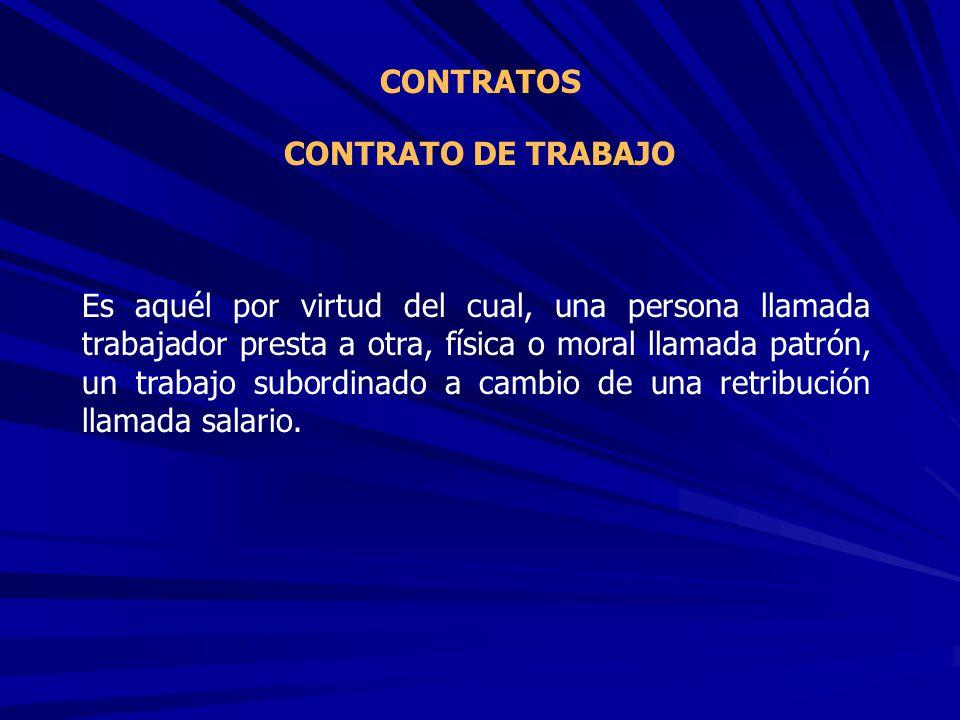 CONTRATOS CONTRATO DE TRABAJO.
