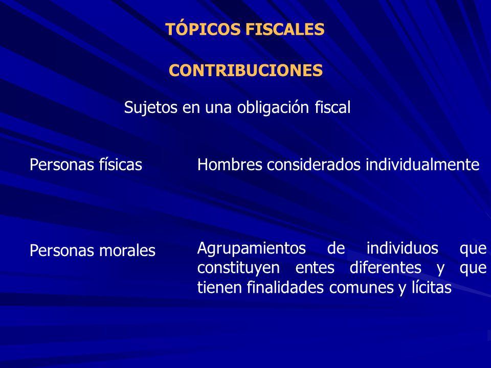 Sujetos en una obligación fiscal