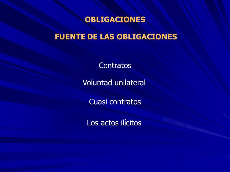 FUENTE DE LAS OBLIGACIONES