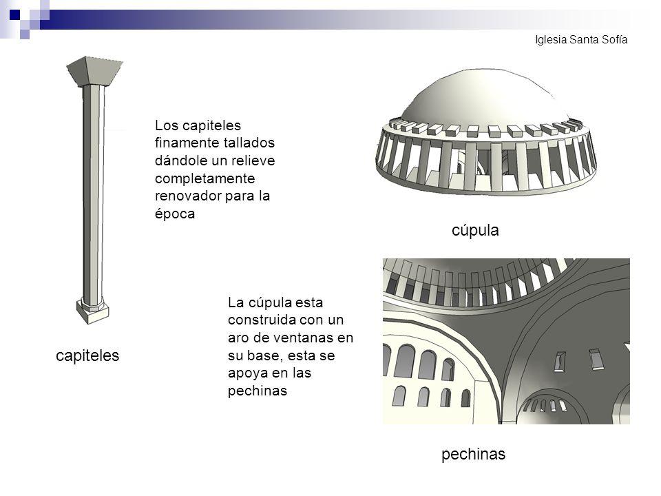 cúpula capiteles pechinas