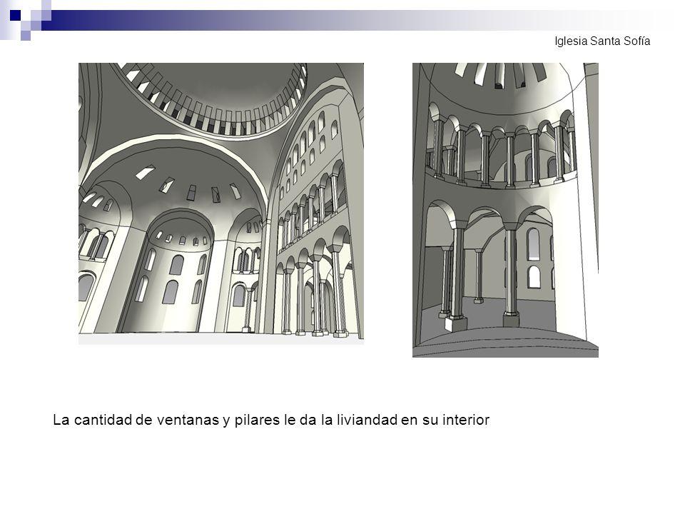 La cantidad de ventanas y pilares le da la liviandad en su interior