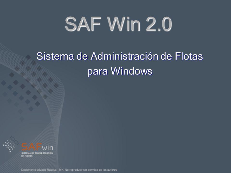 Sistema de Administración de Flotas para Windows