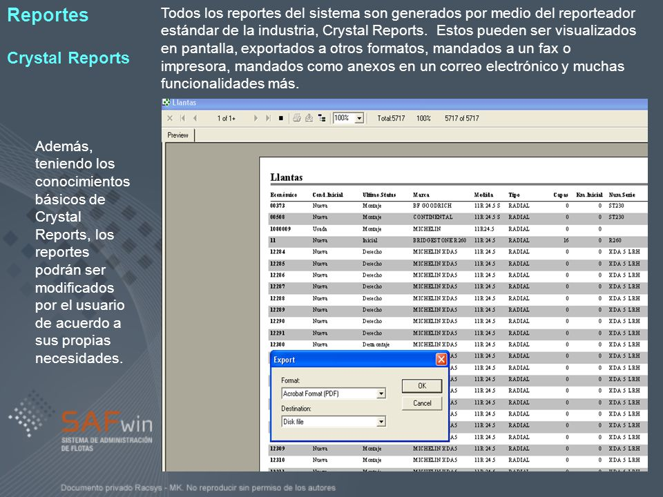 Reportes Crystal Reports