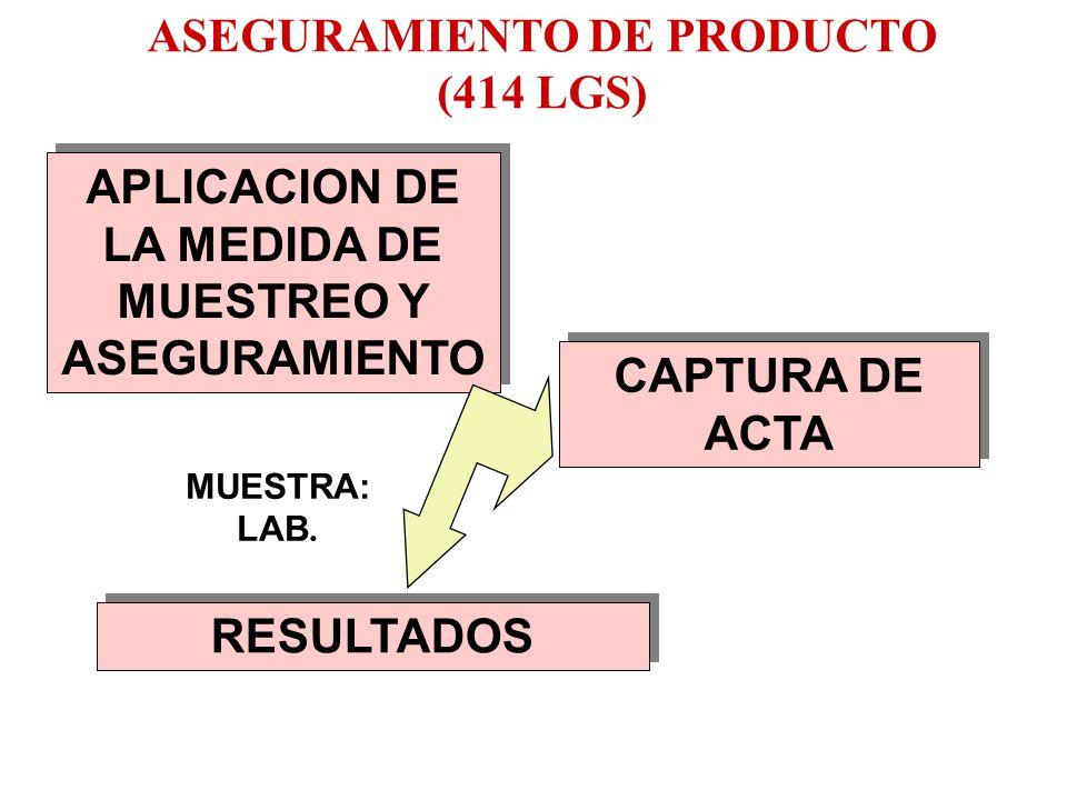 ASEGURAMIENTO DE PRODUCTO (414 LGS)