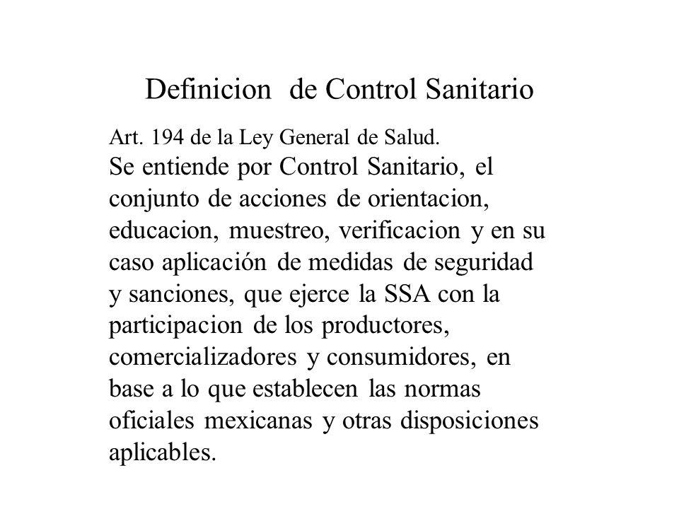 Definicion de Control Sanitario