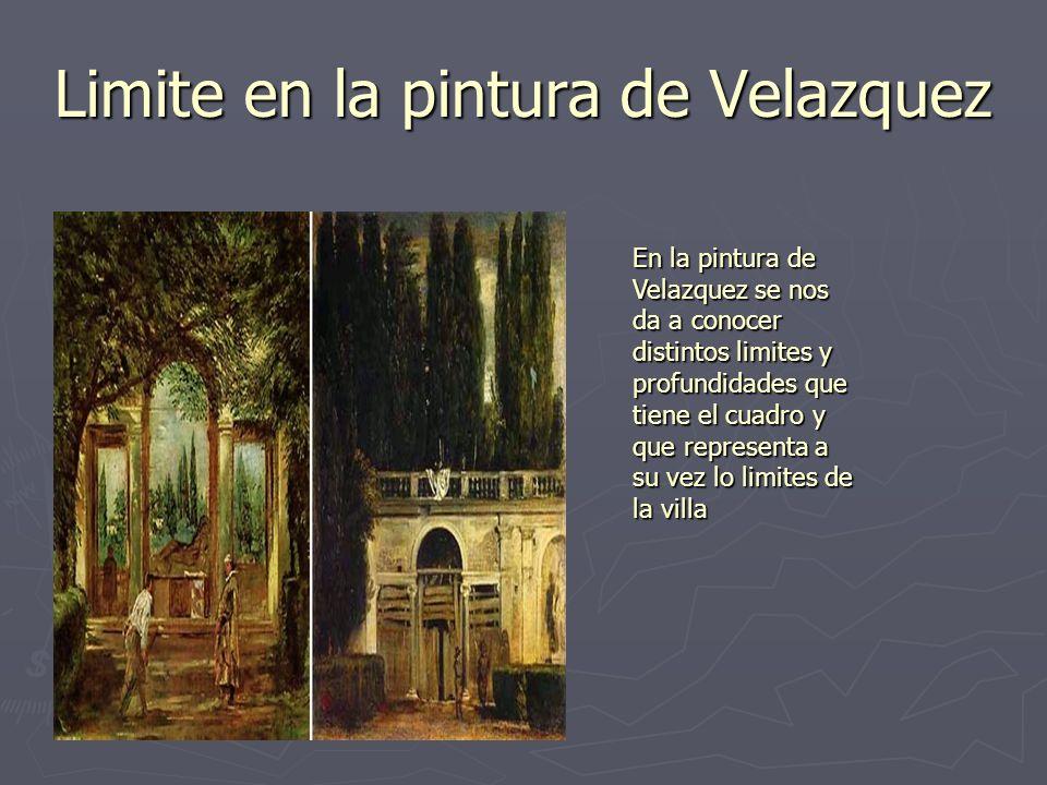 Limite en la pintura de Velazquez