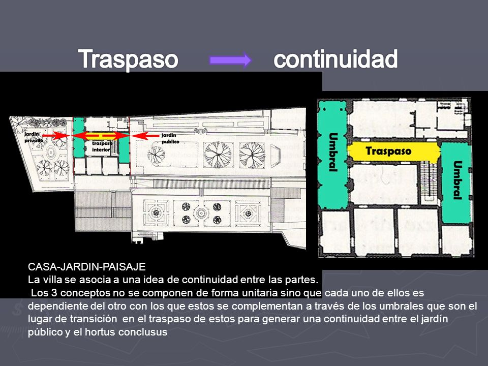 Traspaso continuidad CASA-JARDIN-PAISAJE
