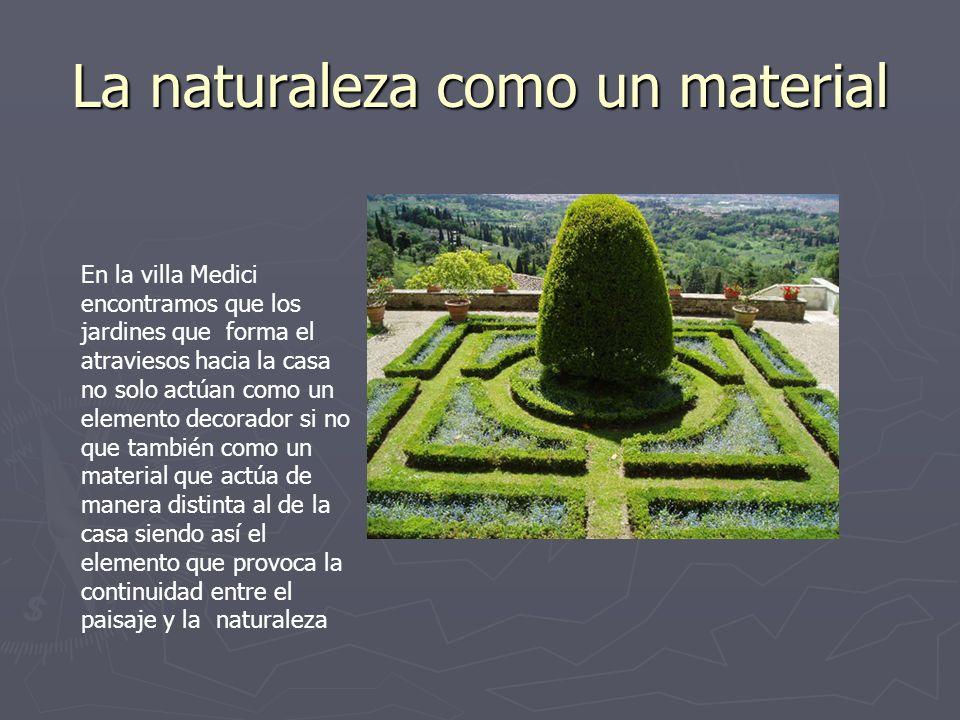 La naturaleza como un material