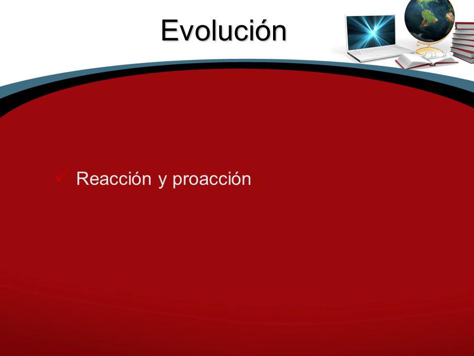 Evolución Reacción y proacción