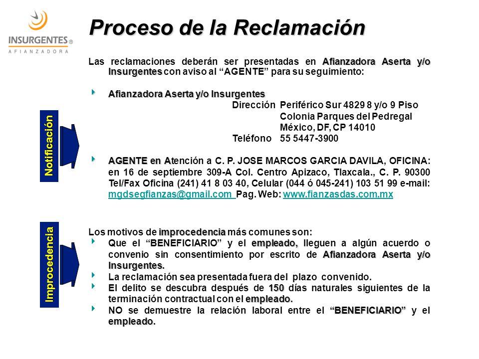 Proceso de la Reclamación