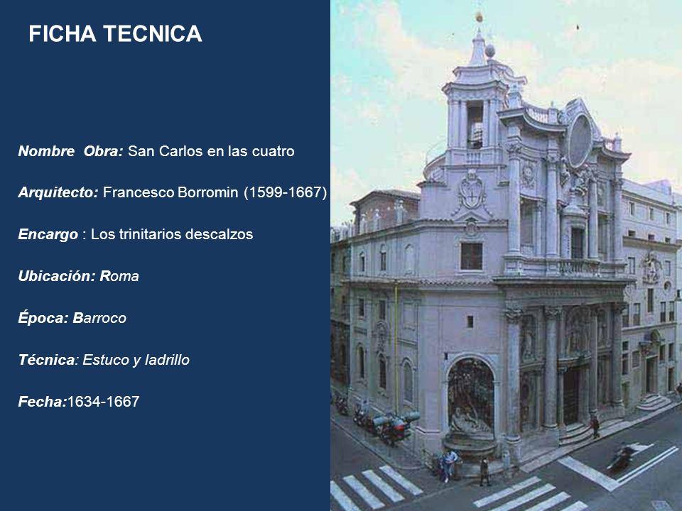 FICHA TECNICA Nombre Obra: San Carlos en las cuatro