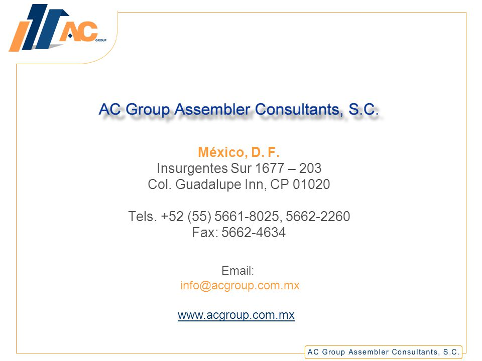 AC Group Assembler Consultants, S.C.