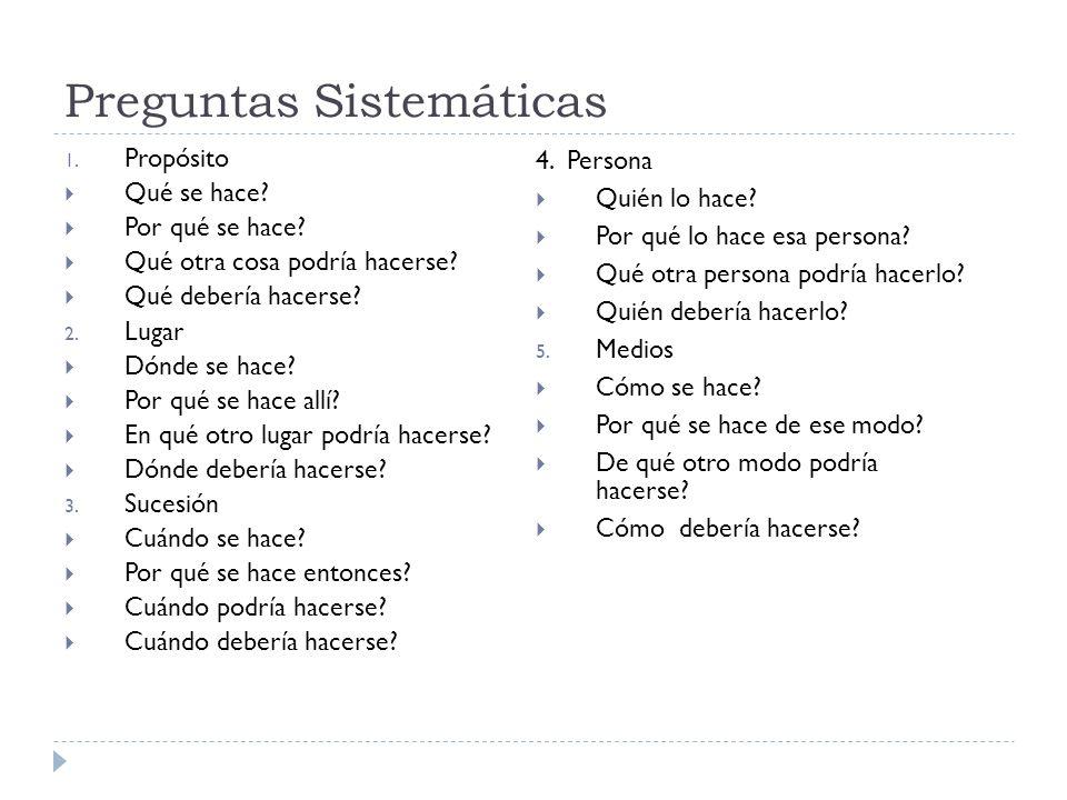 Preguntas Sistemáticas
